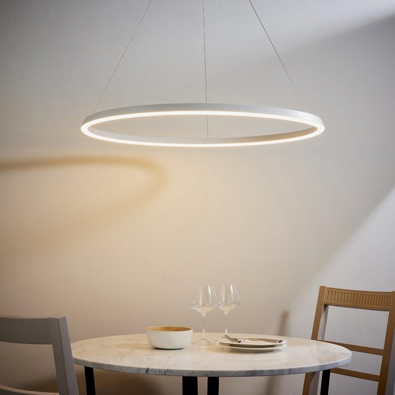 Endon-80629 - Staten - LED Matt White Round Pendant
