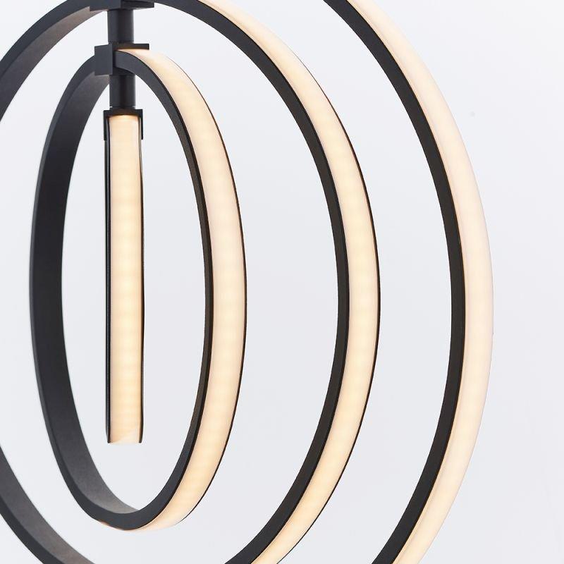 Endon-80679 - Avali - LED Black Rings 4 Light Hanging Pendant