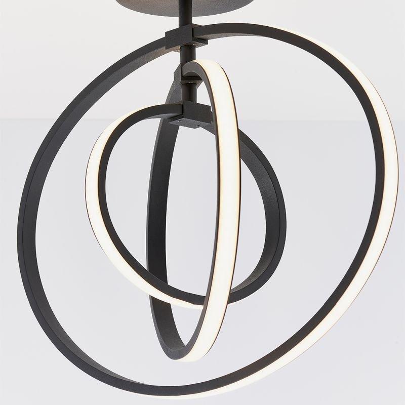 Endon-80682 - Avali - LED Black Rings 3 Light Semi Flush