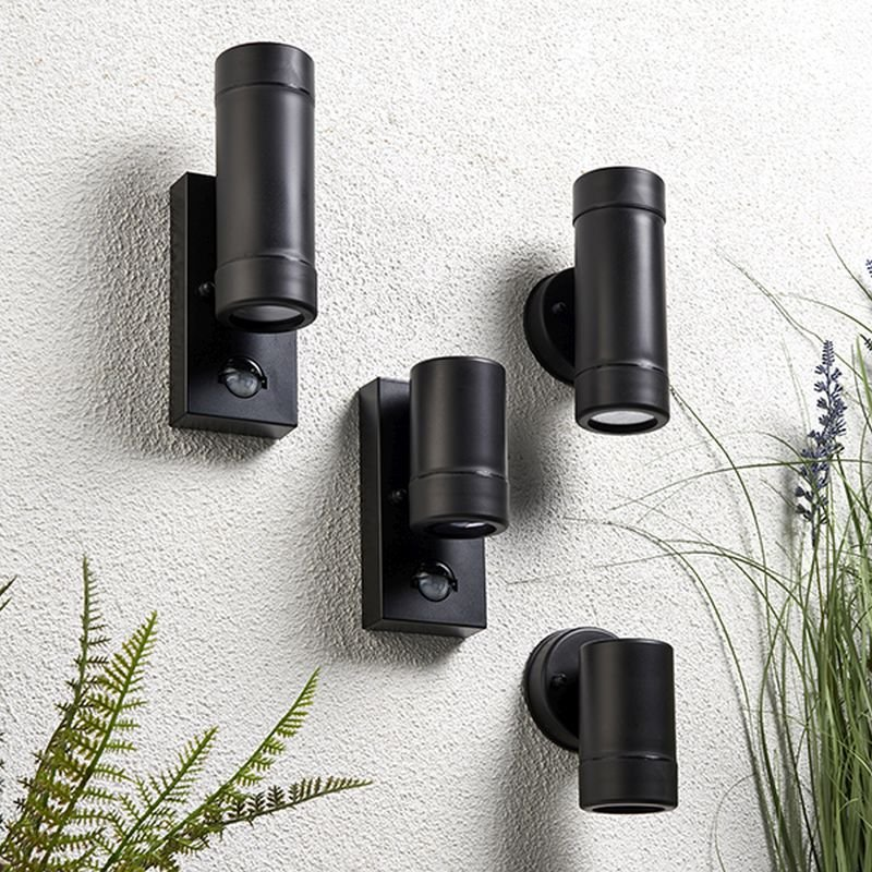 Saxby-81008 - Icarus - Outdoor Black Single Wall Lamp