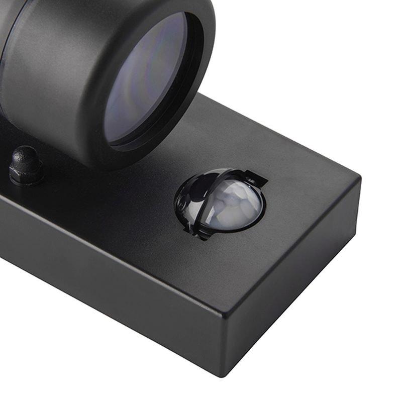 Saxby-81010 - Icarus - PIR Outdoor Black Single Wall Lamp
