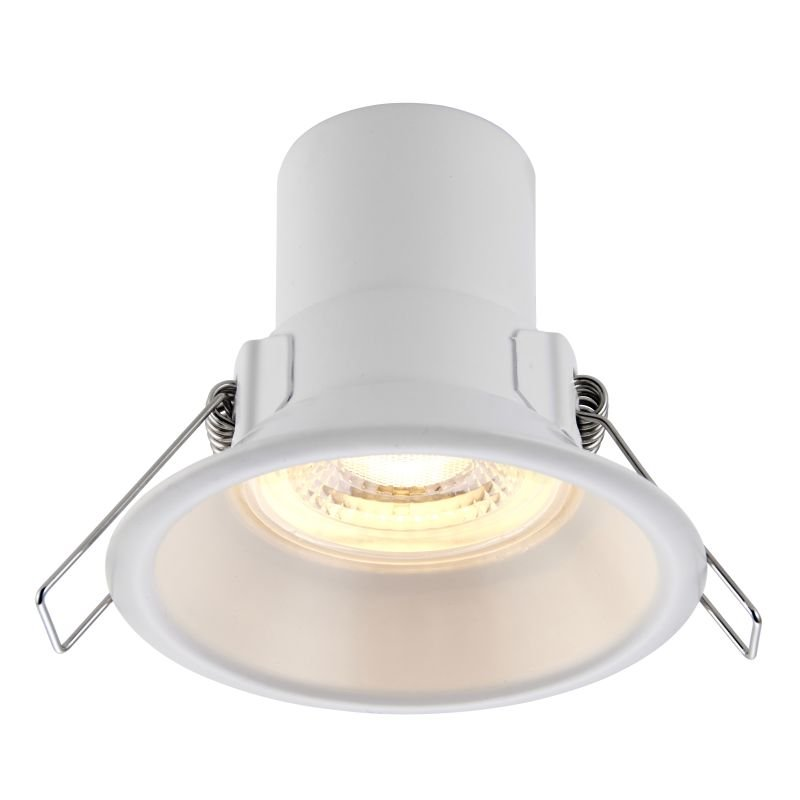 Saxby-81016 - ShieldECO Anti-glare - LED Matt White Recessed Downlight 3000K
