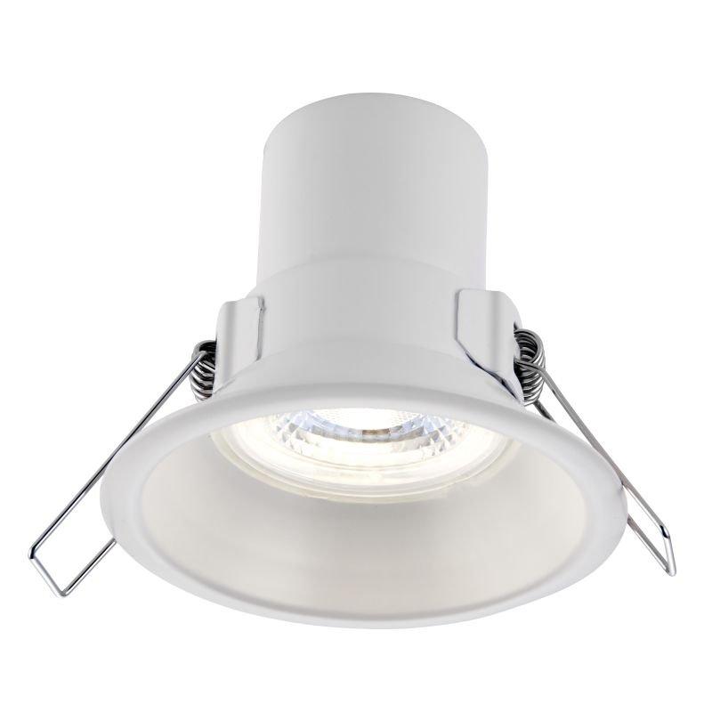 Saxby-81017 - ShieldECO Anti-glare - LED Matt White Recessed Downlight 4000K