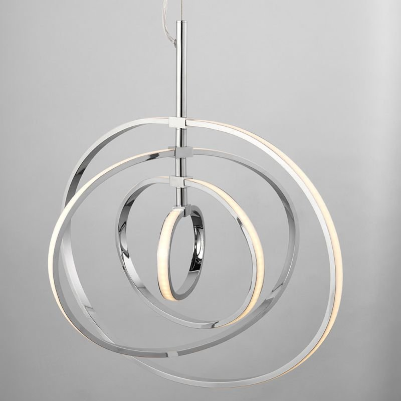 Endon-81034 - Avali - LED Chrome Rings 4 Light Hanging Pendant