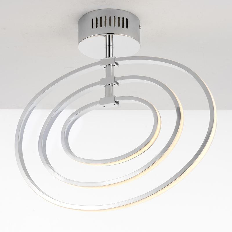 Endon-81036 - Avali - LED Chrome Rings 3 Light Semi Flush
