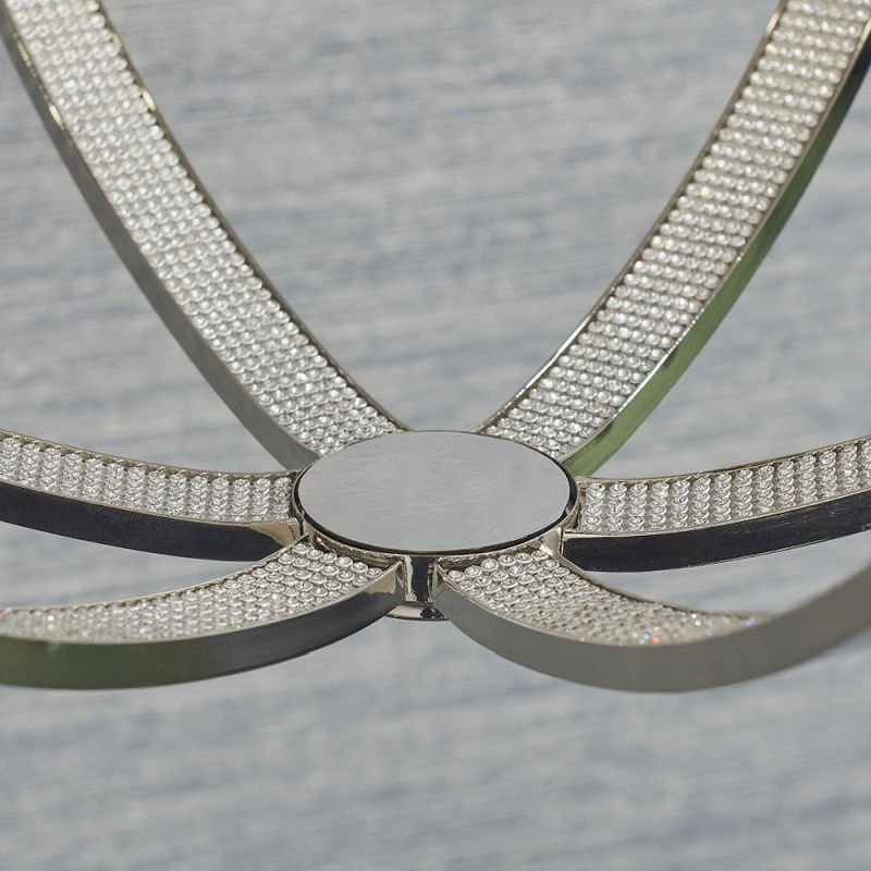 Endon-81507 - Ritz - Crystal & Bright Nickel 3 Light Globe Pendant