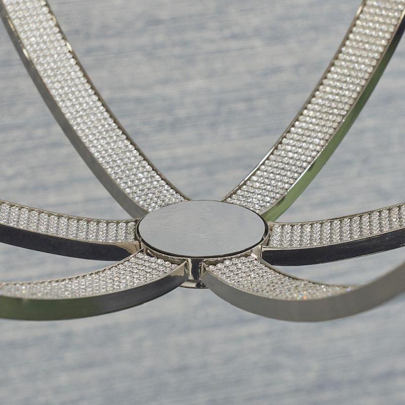 Endon-81508 - Ritz - Crystal & Bright Nickel 6 Light Globe Pendant