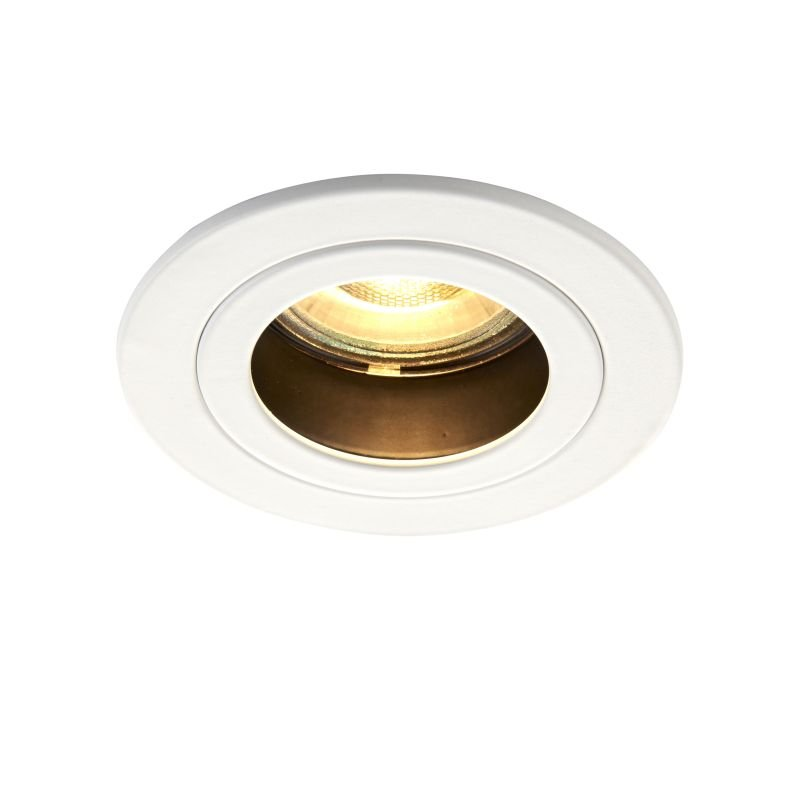 Saxby-81573 - Cast Baffle - Matt White Recessed Downlight Ø 8 cm