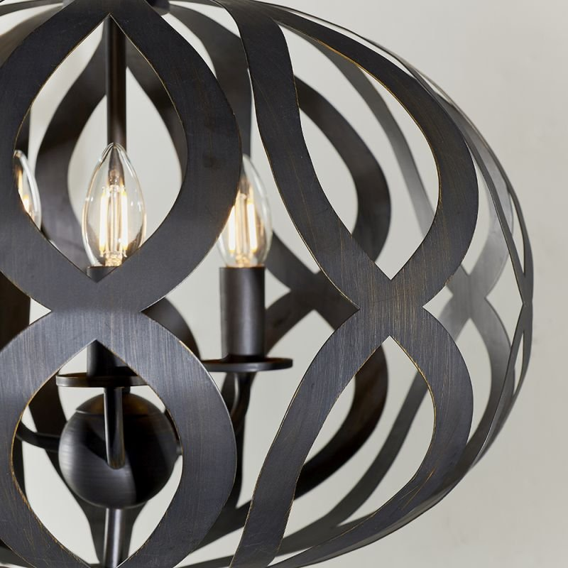 Endon-81750 - Sirolo - Antique Brushed Bronze 3 Light Pendant