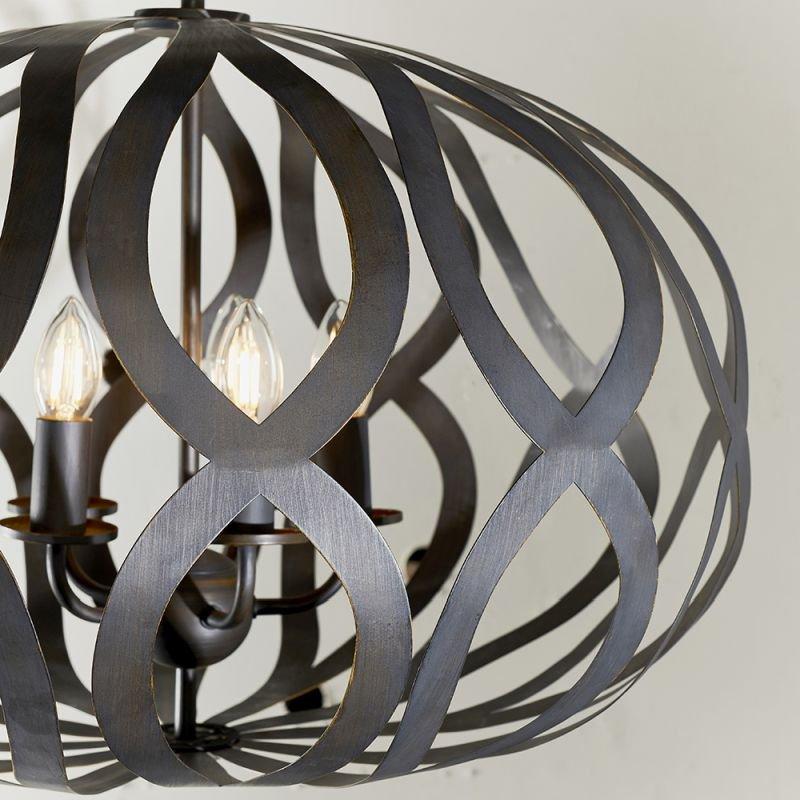 Endon-81752 - Sirolo - Antique Brushed Bronze 5 Light Pendant