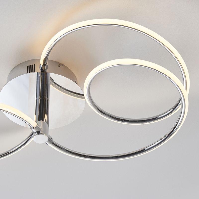 Endon-81885 - Eterne - LED Chrome 2 Light Ceiling Lamp
