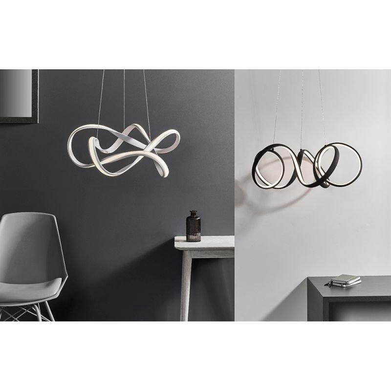 Endon-81889 - Synergy - LED Textured Coffee Pendant Ø 50