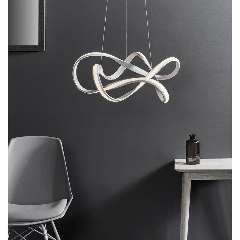 Endon-81893 - Synergy - LED Textured White Pendant Ø 63