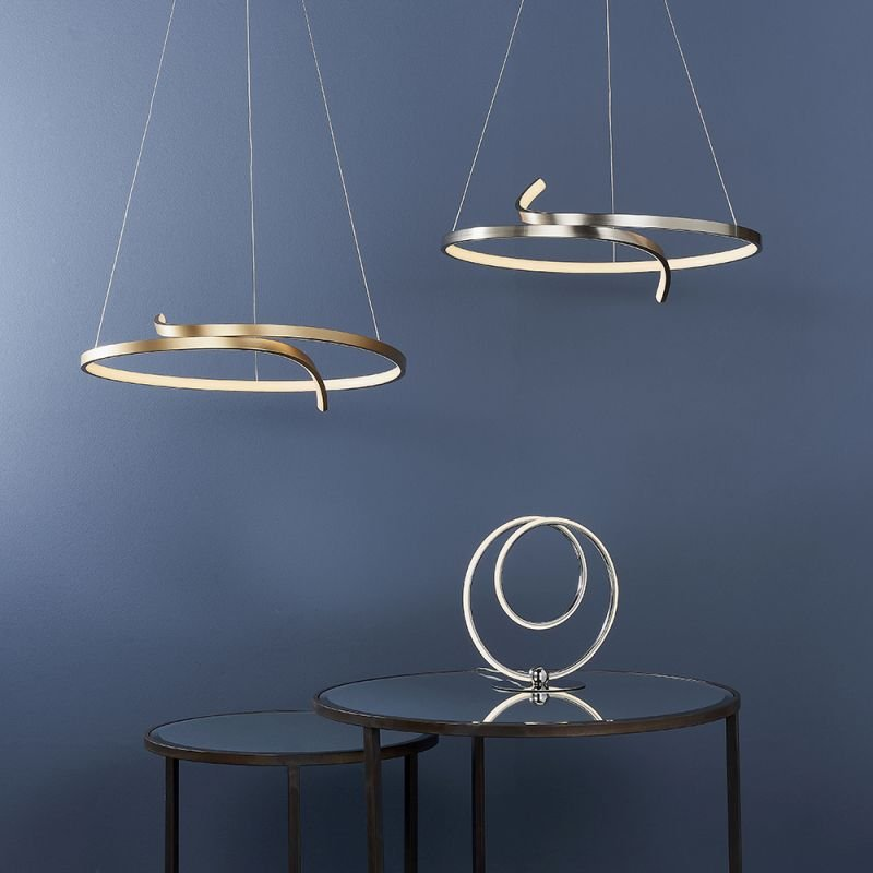 Endon-81903 - Rafe - LED Satin Nickel Pendant