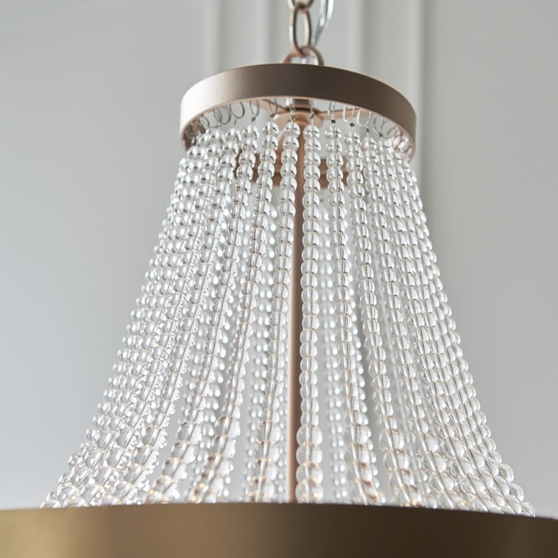 Endon-81913 - Celine - Rose Gold & Clear Glass 5 Light Chandelier