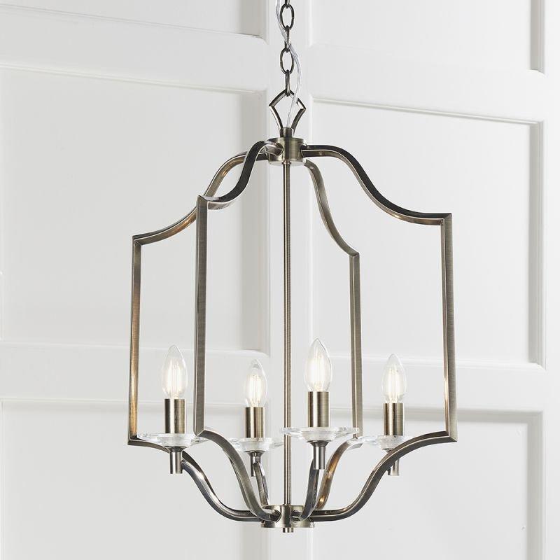 Endon-81916 - Lainey - Antique Brass 4 Light Pendant