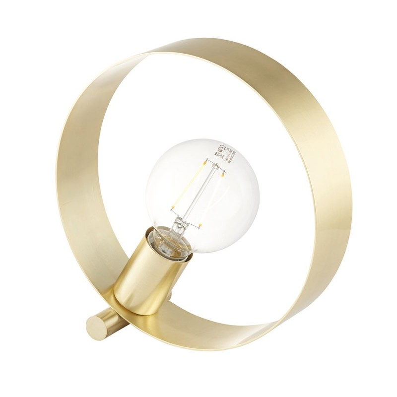 Endon-81920 - Hoop - Brushed Gold 1 Light Table Lamp