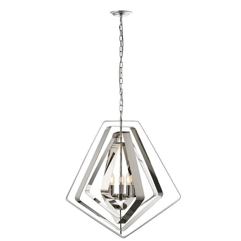 Endon-81928 - Riona - Modern Twist Polished Chrome 3 Light Pendant