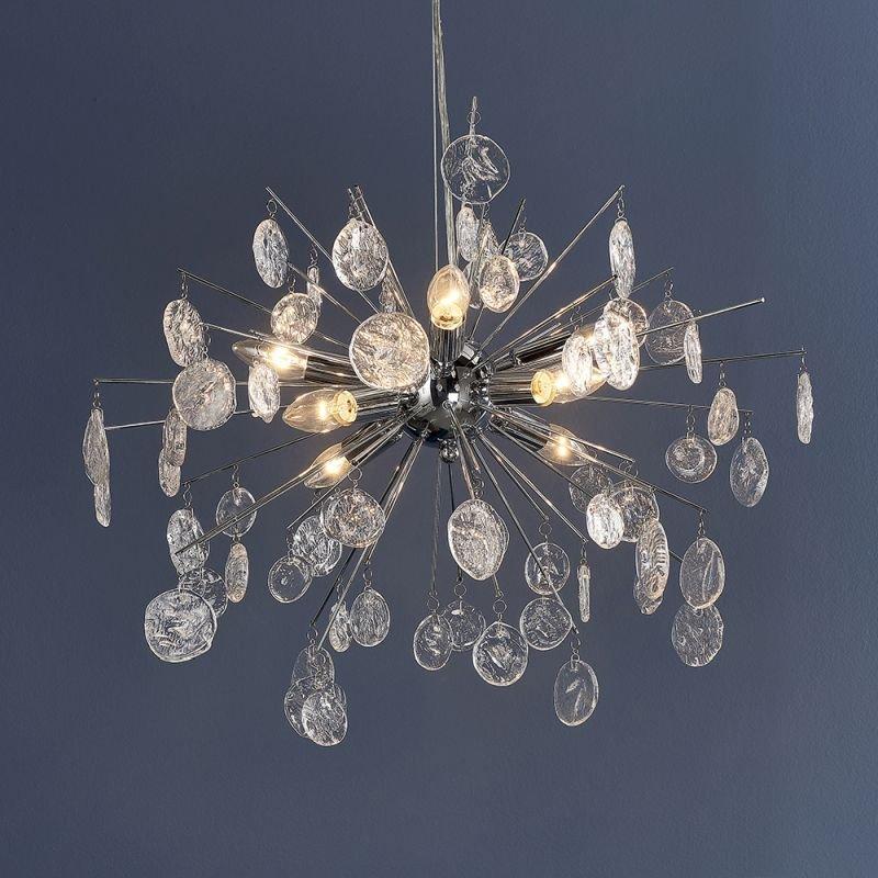 Endon-81950 - Calla - Clear Glass & Chrome 8 Light Centre Fitting