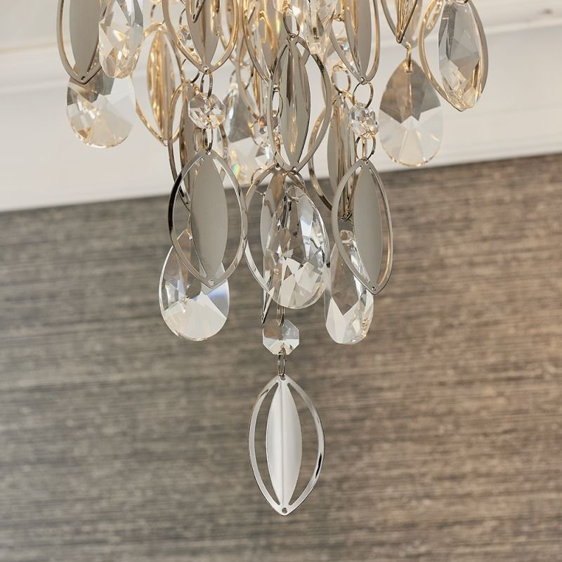 Endon-81956 - Melody - Crystal & Chrome 3 Light Ceiling Lamp
