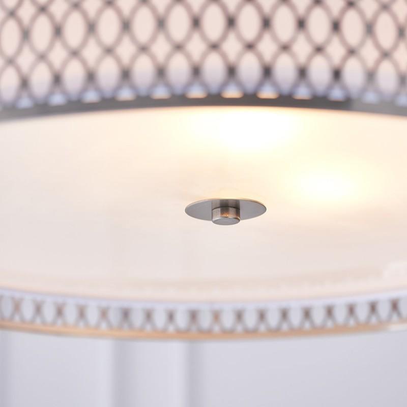 Endon-81969 - Cordero - White & Satin Nickel 3 Light Pendant