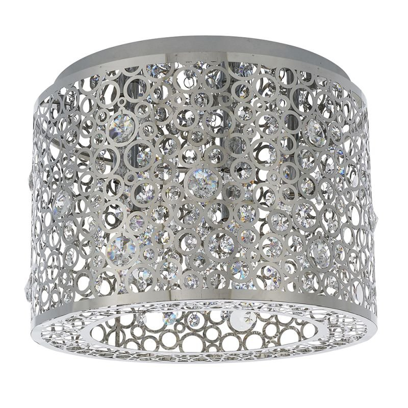 Endon-81974 - Fayola - Crystal & Decorative Chrome 5 Light Flush