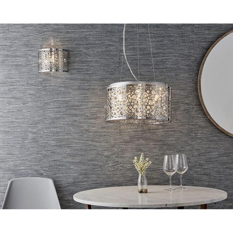 Endon-81975 - Fayola - Crystal & Decorative Chrome 6 Light Pendant