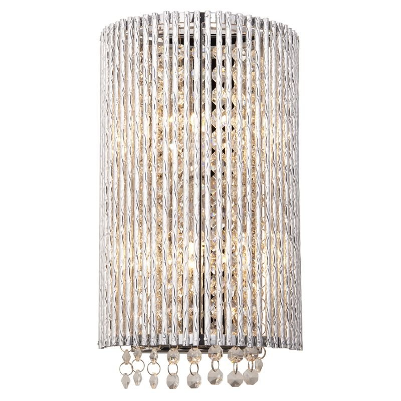 Endon-81978 - Galina - Crystal & Chrome Rods 2 Light Wall Lamp