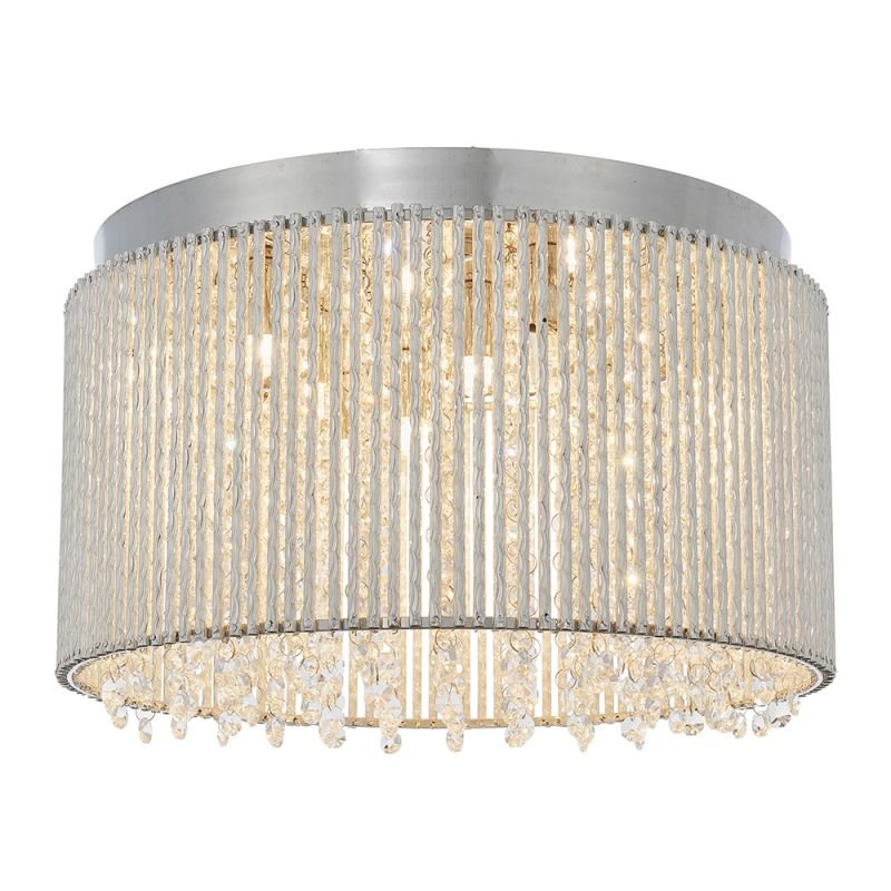 Endon-81980 - Galina - Crystal & Chrome Rods 10 Light Ceiling Lamp