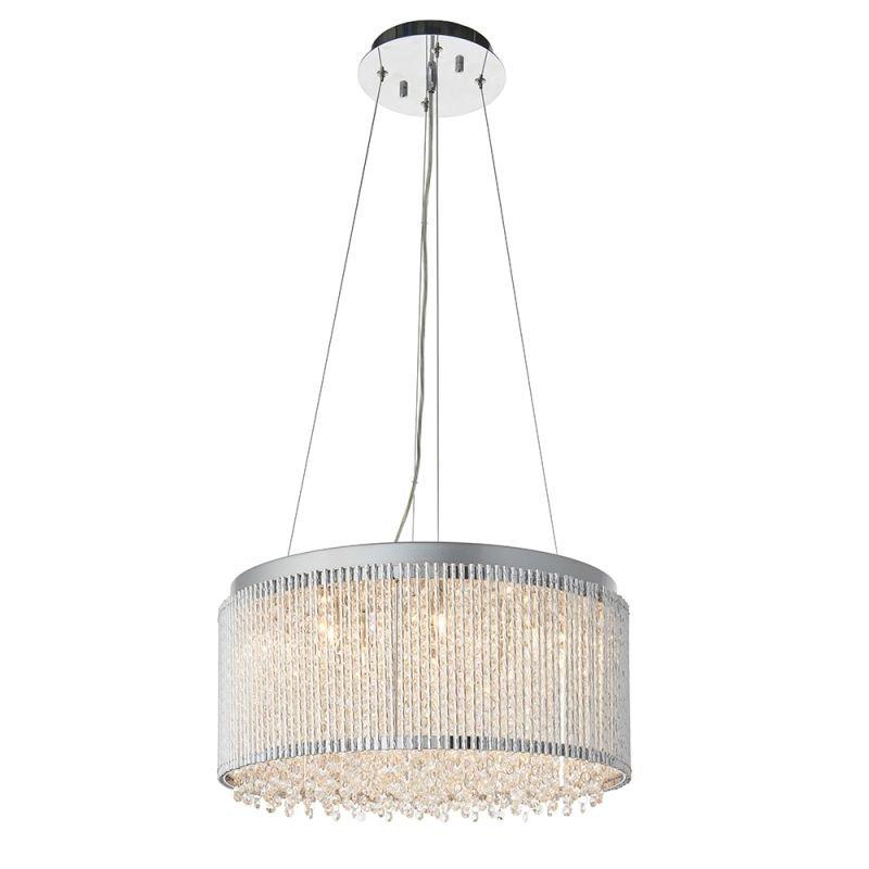 Endon-81981 - Galina - Crystal & Chrome Rods 12 Light Pendant