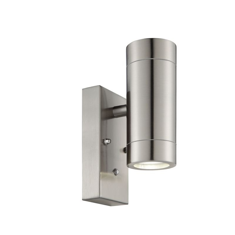 Saxby-90130 - Palin -  Photocell Stainless Steel Up&Down Wall Lamp