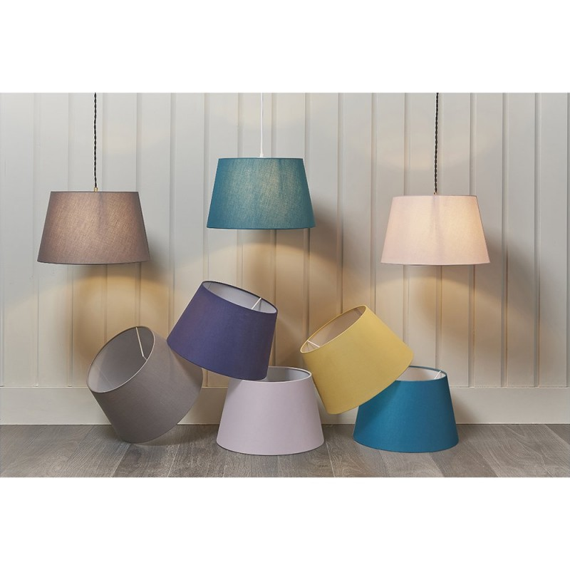 Endon-90134 - Evie - Shade Only - 14 inch Light Grey Shade