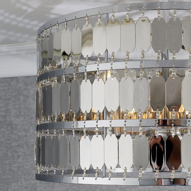 Endon-90297 - Eldora - Chrome Hexagonal Plates 3 Light Ceiling Lamp