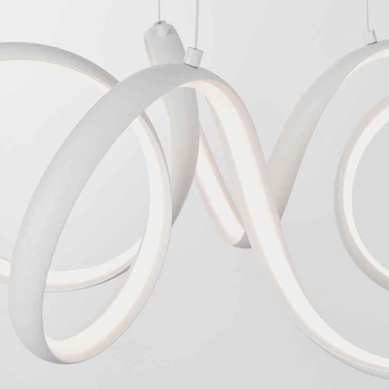 Endon-90321 - Synergy - LED Textured White Pendant Ø 50