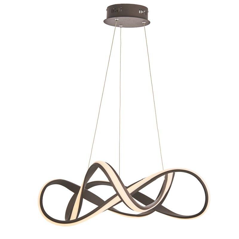Endon-90322 - Synergy - LED Textured Coffee Pendant Ø 63