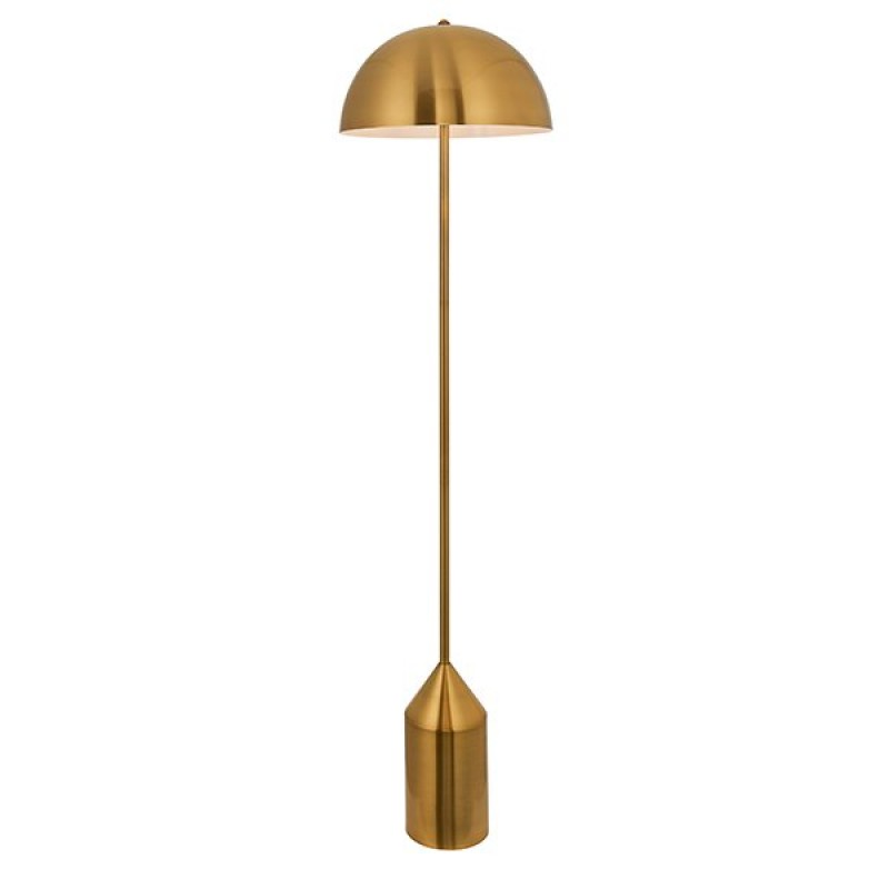 Endon-90521 - Nova - Antique Brass Floor Lamp