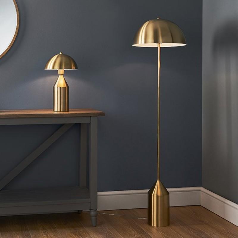 Endon-90522 - Nova - Antique Brass Table Lamp