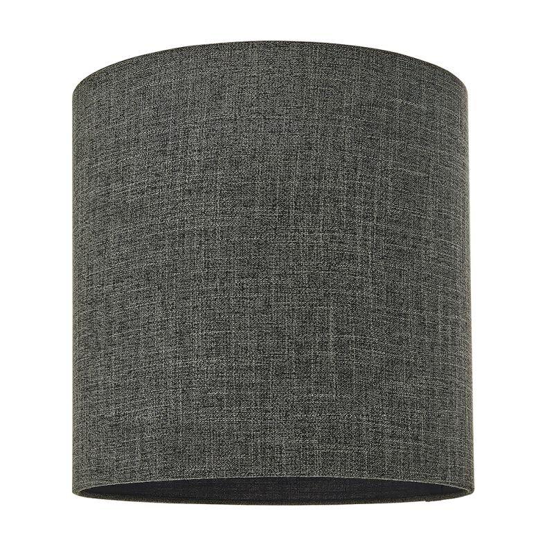 Endon-90548 - Sara - Shade Only - 12 inch Charcoal Linen Shade