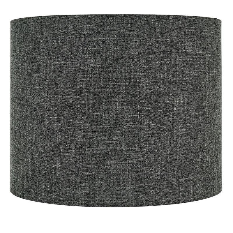 Endon-90553 - Sara - Shade Only - 18 inch Charcoal Linen Shade