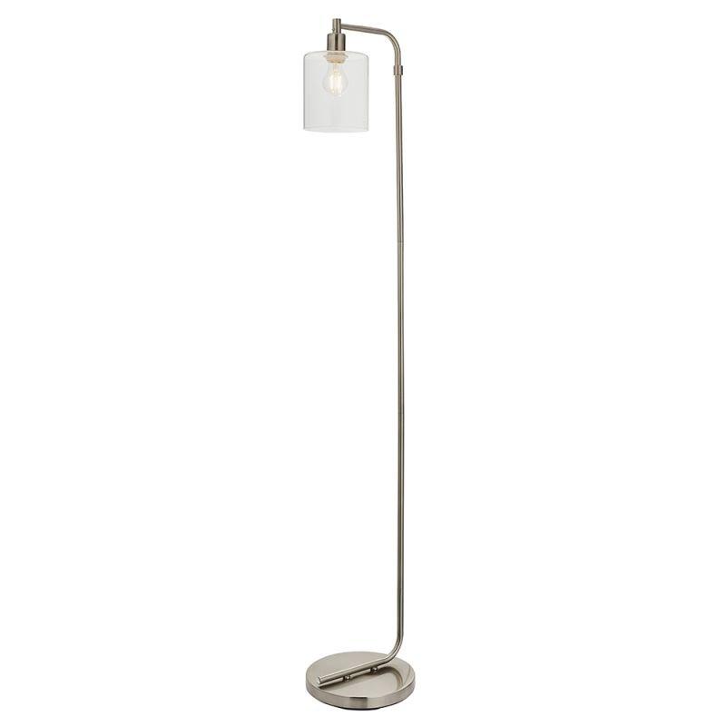 Endon-90557 - Toledo - Clear Glass & Brushed Nickel Floor Lamp