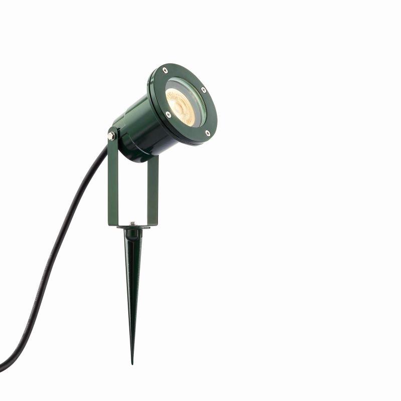 Saxby-90965 - Opaz - Outdoor Green & Clear Glass Spike Spots
