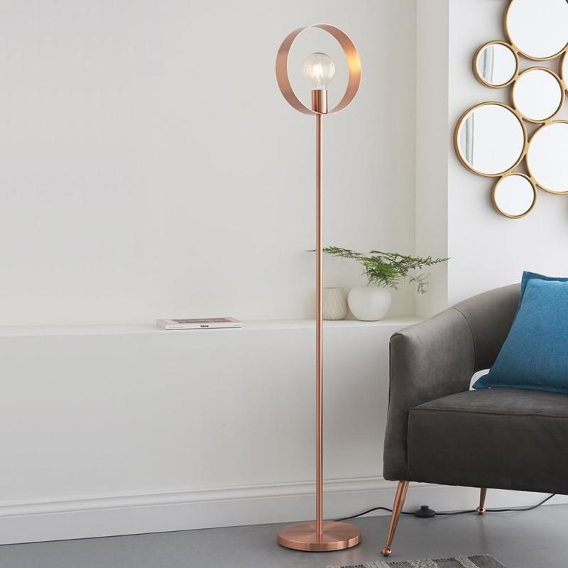 Endon-91781 - Hoop - Brushed Copper 1 Light Floor Lamp
