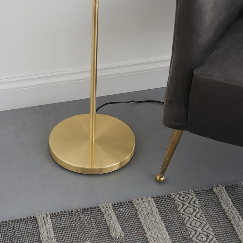 Endon-91934 - Hoop - Brushed Gold 1 Light Floor Lamp