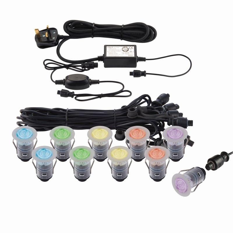 Saxby-91961 - Ikon Smart - Set of 10 Decking Lights ∅3.5 cm RGB