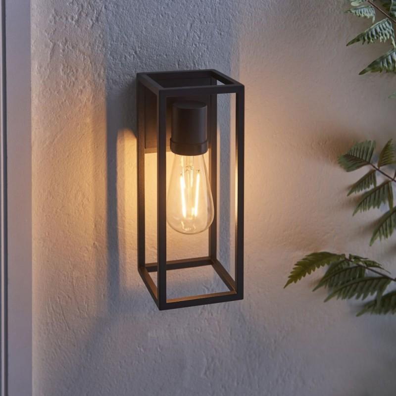 Endon-91993 - Herbert - Textured Black Aluminium Wall Lamp