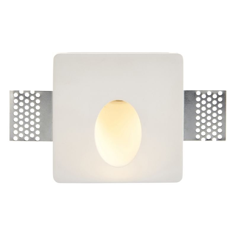 Saxby-92312 - Zeke - LED Square Plaster-in Recessed Wall Light