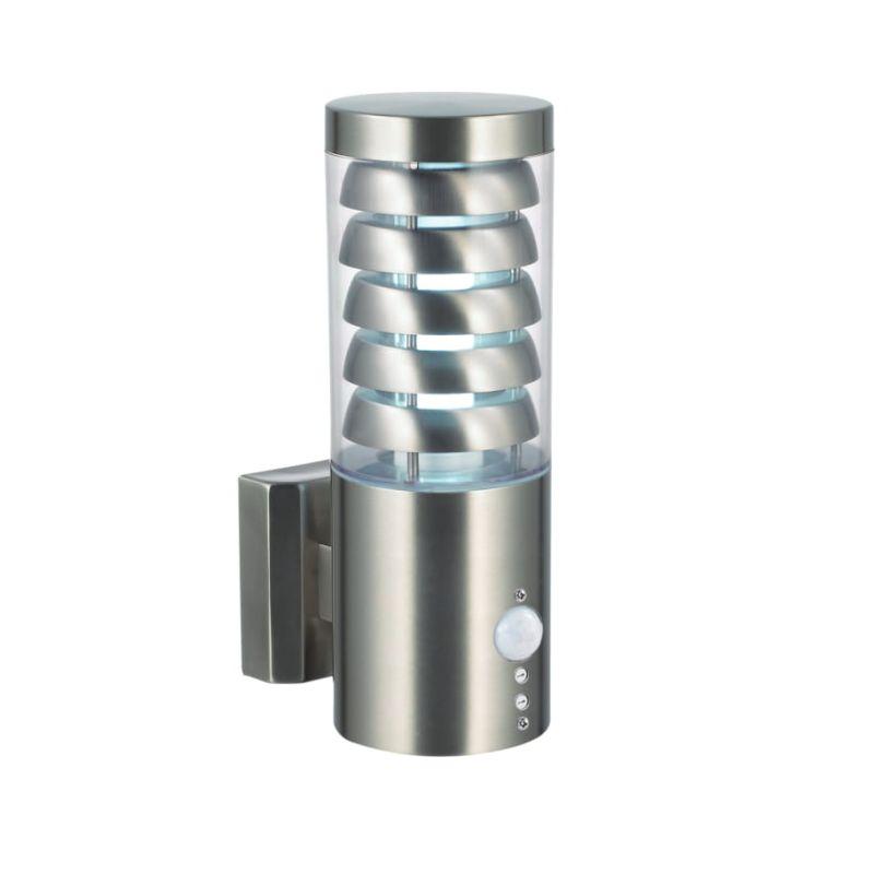 Saxby-92532 - Tango - PIR Brushed Stainless Steel Uplight Wall Lamp