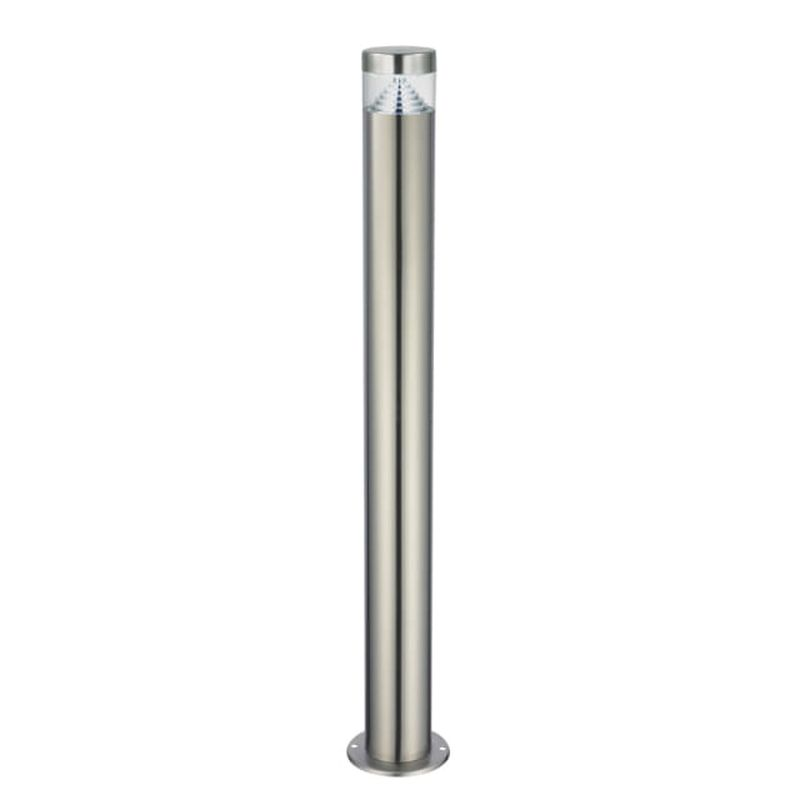 Saxby-92534 - Pyramid - LED Brushed Stainless Steel Big Bollard