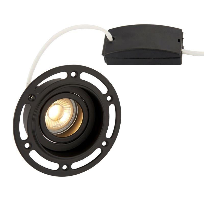 Saxby-92538 - Trimless Tilt - Adjust Black Plaster-in Recessed Downlight