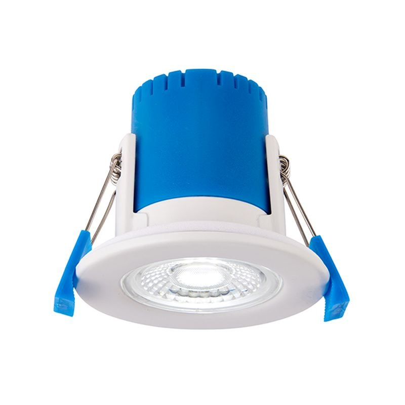 Saxby-92748 - ShieldECO 500 CCT - LED Matt White Recessed Downlight